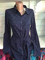 Женская туника рубашка с длинным рукавом  р. S,M,L,XL,XXL