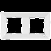 Рамка двойная горизонтальная белая VIKO meridian