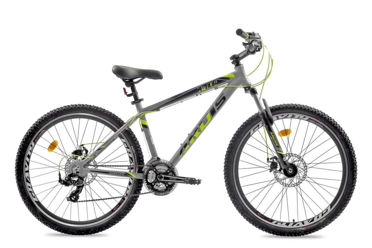 """Горный велосипед Ardis SWEED 27,5"""" алюминиевый с дисковыми тормозами, Серо-желтый"""