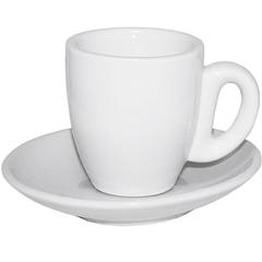 Чашка с блюдцем белая (чашка-60 мл, блюдце-11,5 см)