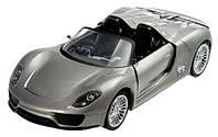 Машинка Meizhi р/у 1:24 Porsche 918 металлическая (серый)