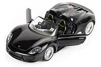 Машинка Meizhi р/у 1:24 Porsche 918 металлическая (черный)