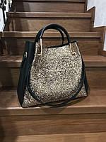 Модная женская сумка с декором Guess копия