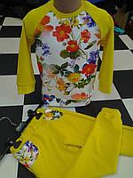 Костюм весна желтый