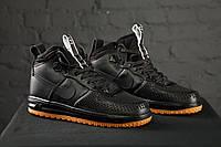 Nike lunar force 1 duckboot Black (черные)