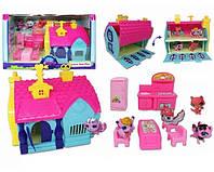 Ігровий набір Будиночок Pet Shop (Пет шоп) TM618 з фігурками та меблями