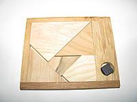 """Деревянная головоломка """"Черный квадрат"""" малый"""