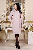 Демисезонное женское розовое пальто В-1088 EU-2798 Тон 21 Favoritti 44-54 размер