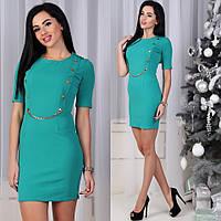 0b339f12aa8 Стильное молодёжное платье Mokrina облегающее с пагонами на плечах