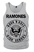"Майка Ramones ""Rock'n'Roll"" (меланж), Размер S"