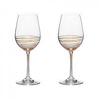 Набор бокалов для вина (350 мл/2шт.) BOHEMIA Spiral 8296