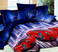 Комплект постельного белья из ранфорса  Машинка и город