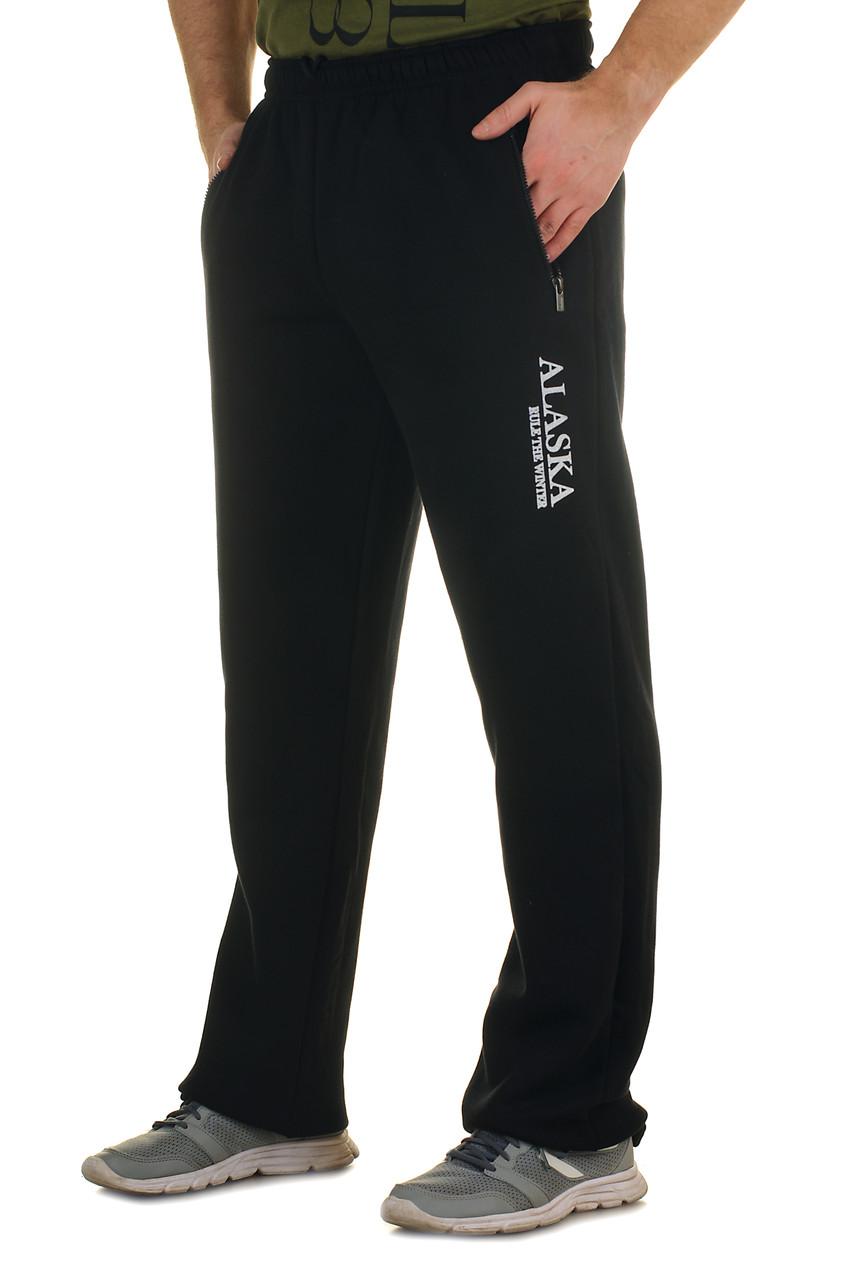 Теплі трикотажні чоловічі спортивні штани з начосом Alaska ТІЛЬКИ 58 РОЗМІР
