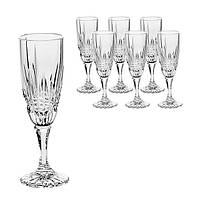 Набор хрустальных бокалов для шампанского (180 мл/6 шт.) BOHEMIA Vibes 7806