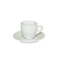 Чашка с блюдцем белая (чашка-60мл, блюдце-11,5см)