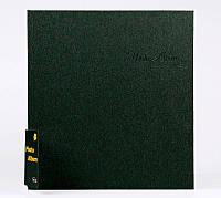 Фотоальбом на 20 магнитных листах, твердая обложка, цвет черный