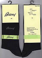 Носки мужские демисезонные бамбук Brioni, без шва, ароматизированные, размер 41-44, чёрные, 1459
