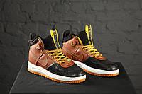 Nike lunar force 1 duckboot Black/Brown (коричневые)