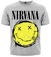 Футболка Nirvana (smile (меланж)), Размер M