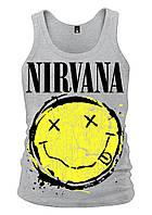 Майка Nirvana (smile (меланж)), Размер XXL