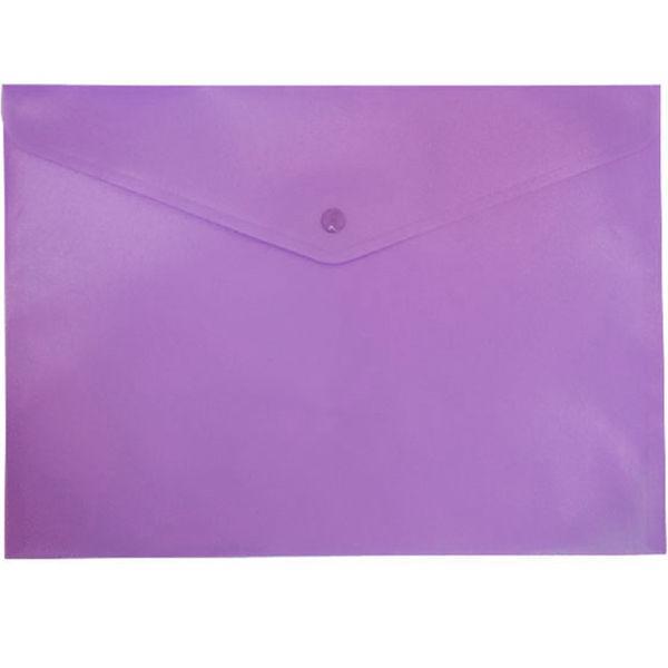 Папка-конверт А4 с кнопкой Buromax непрозрачный 3925_Фиолетовый