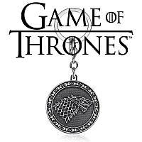 Брелок из Игры Престолов Герб Старков Двухсторонний Winter is coming Game of Thrones