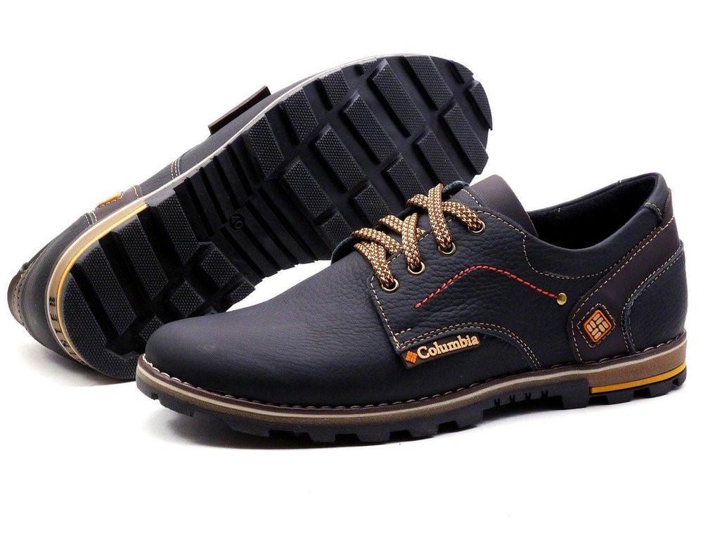 Мужские кожаные туфли кроссовки  Columbia коламбия  черные 40, 41, 42, 43, 44, 45 44 - Vsetreba.com.ua в Харькове