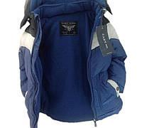 Куртка демисезонная 66BLUEWHITE 128 см Синяя с белым