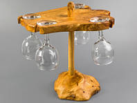 Минибар деревянный под 4 бокала