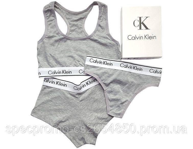 Женский комплект нижнего белья Calvin Klein (реплика)серый - SpecPromo в  Днепре d2eebef30ac