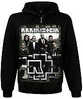 Толстовка Rammstein (photo band with logo) на молнии, Размер L