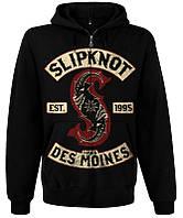 """Толстовка Slipknot """"Iowa Des Moines"""" на молнии, Размер L"""