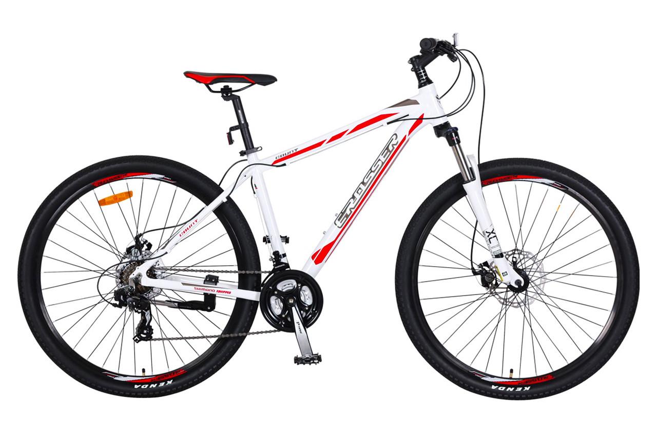 """Горный велосипед CROSSER COUNT 26"""" Белый/Красный"""