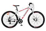 """Горный велосипед CROSSER COUNT 26"""", 17"""" Белый / Красный"""