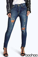 Брендовые рваные джинсы Next Boohoo Petite Bethany