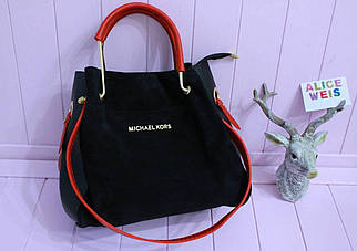 Элегантная женская сумочка из комбинированного материала