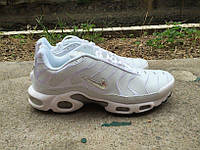 Стильные модные кроссовки Nike Air Max TN Plus White/Silver