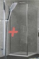 RUDAS душевая кабина квадратная 90*90*205 см, поддон (PUF) 5 см + Штанга душевая L-66см, ручной душ 1 режим,шл