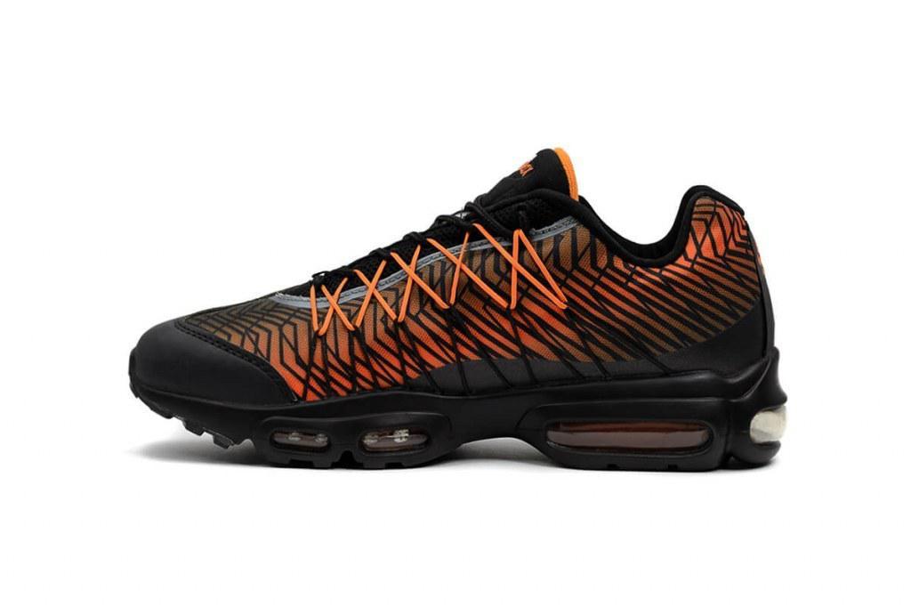 317994ec Супер модные мужские кроссовки Nike Air Max 95 Ultra Jacquard Black/Orange