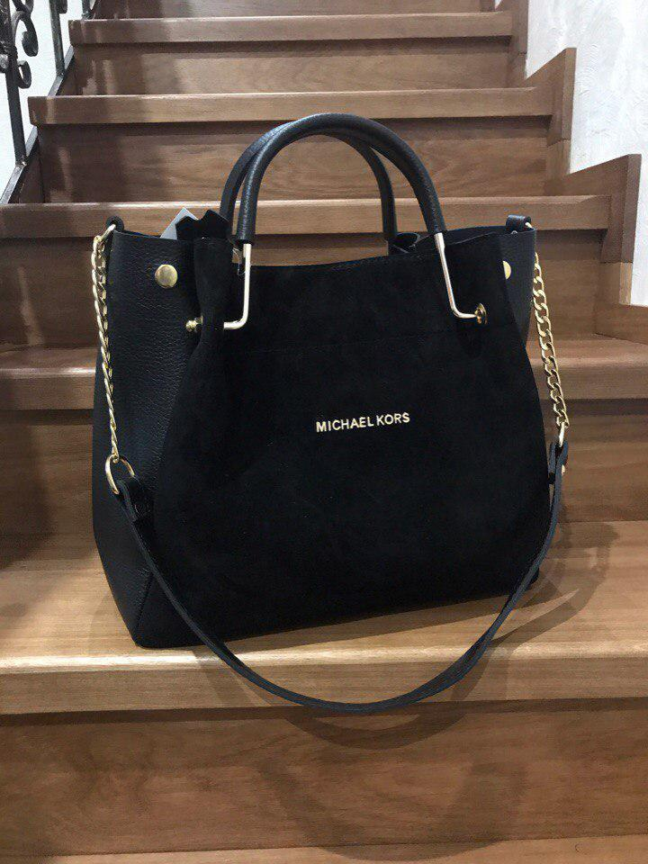 Элегантная женская сумка из комбинированного материала