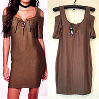 Вечернее платье с Открытыми Плечами и Шнуровкой бренд Boohoo