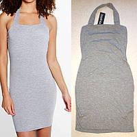 Модное Спортивное Обтягивающее Платье с Лямкой на Шее Boohoo