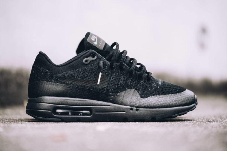 6e8f6b21 ☆ Купить Мужские кроссовки Nike Air Max 1 Ultra Flyknit Black/Grey ...