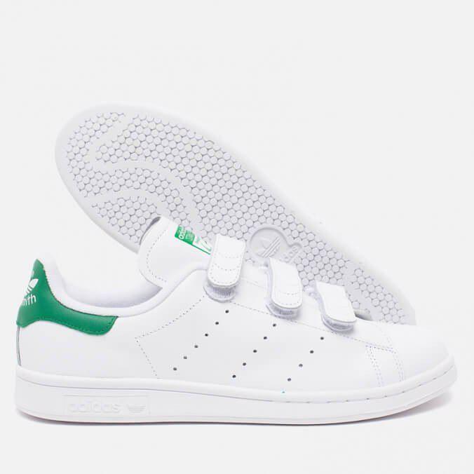 76461512fa87 ☆ Купить Модные кроссовки Adidas Stan Smith CF White/White/Green ...