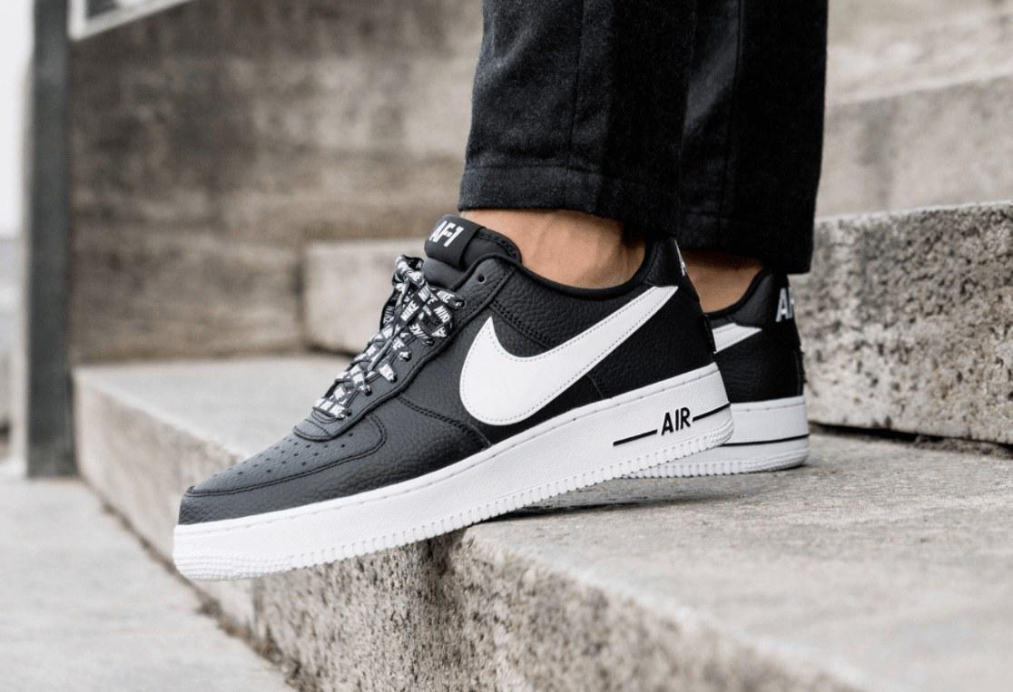 47f3d470 ... Стильные модные кроссовки Nike Air Force 1 Low NBA Black/White, ...