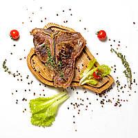 Доска для подачи мяса в виде стейка Тибон (T-Bone)