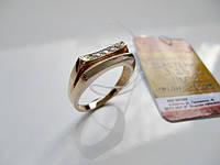 Золотое мужское кольцо ПЕЧАТКА 3.25 гр. 18 размер Золото 585 пробы