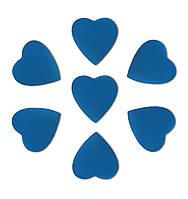 Конфетти сердечки синие, 50 грамм