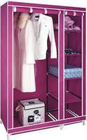 Складной тканевый шкаф clothes rail with protective cover