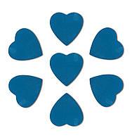 Конфетти сердечки синие, 100 грамм